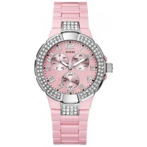Pink guess prism watch. Round face. Rhinestone new